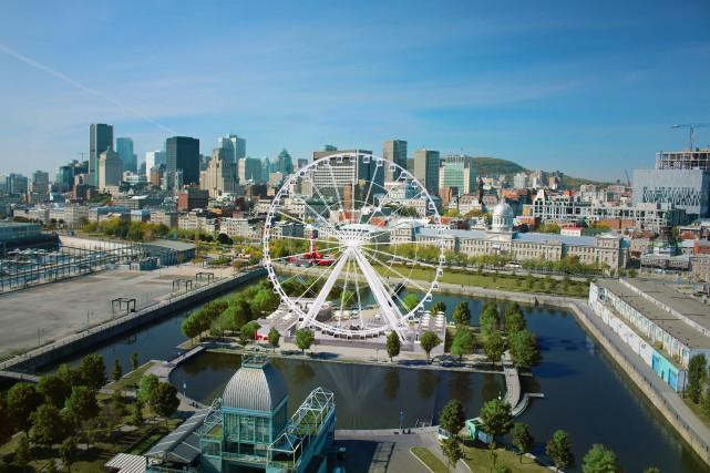 La plus haute grande roue du Canada tournera dans le Vieux-Port de Montréal en... (Photo fournie par le Vieux-Port)