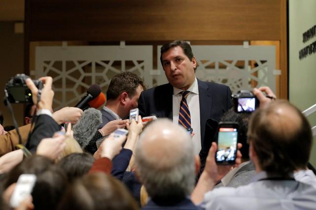 L'ambassadeur russe à l'ONU Vladimir Safronkov... (PHOTO Lucas Jackson, REUTERS)