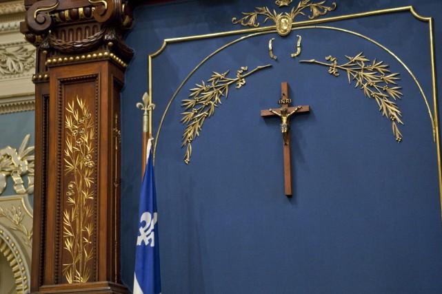Le crucifix de l'Assemblée nationale.... (Archives Presse canadienne)