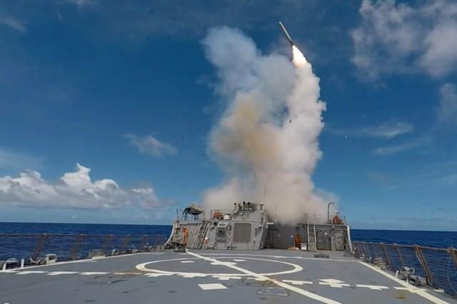 Le conflit syrien vient de prendre une toute... (Courtoisi, Marine américaine via AFP)