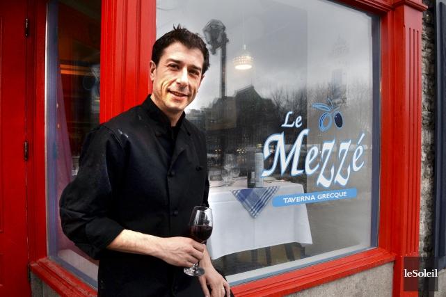 Andreas Papadeas déménage son restaurant Le Mezzé de... (Le Soleil, Jean-Marie Villeneuve)