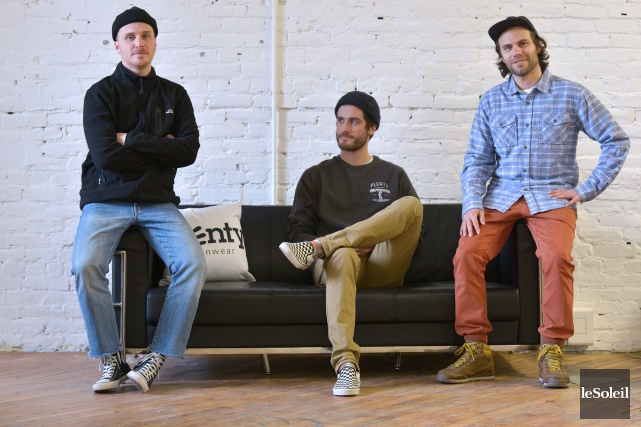 Dans l'ordre, les trois fondateurs de Plenty Humanwear,... (Le Soleil, Yan Doublet)