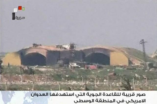 Dans cette image diffusée par la télévision d'État... (PHOTO REUTERS/TÉLÉVISION SYRIENNE)
