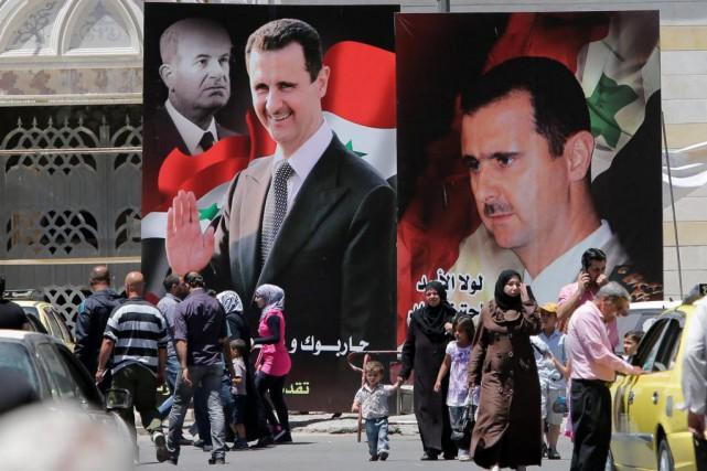 Bachar al-Assad a tout juste 35 ans quand... (photo joseph eid, archives agence france-presse)