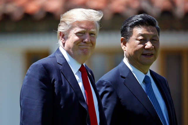 Le président Donald Trump et son homologue chinois... (PHOTO Alex Brandon, ASSOCIATED PRESS)