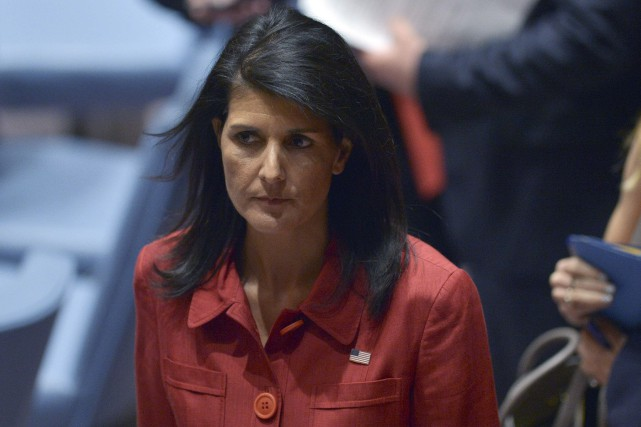 L'ambassadrice américaine aux Nations Unies, Nikki Haley, a... (AFP,  Jewel SAMAD)