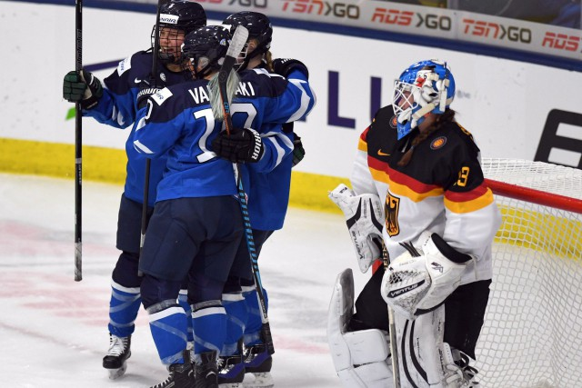 Match facile pour les Finlandaise.... (photo Jason Kryk, La Presse canadienne)