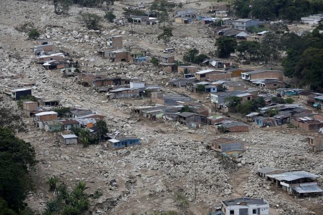 La ville de Mocoa a été dévastée par... (Associated Press)