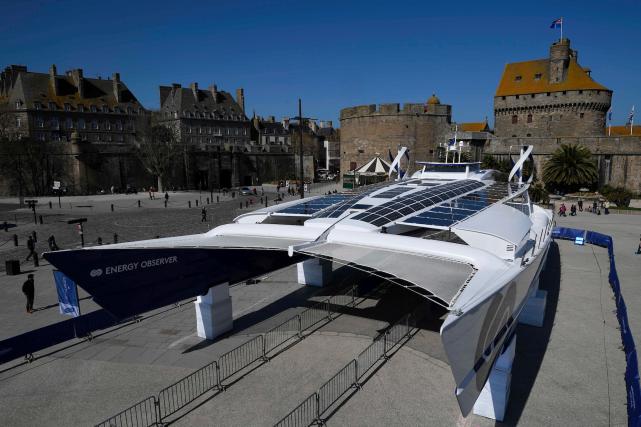 Équivalent sur mer de l'avionSolar impulse, l'Energy... (AFP, DAMIEN MEYER)