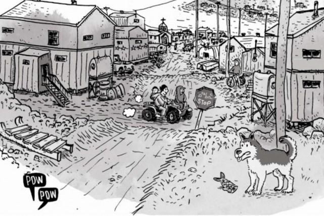 Direction le Nunavik en compagnie de l'auteur et dessinateur québécois Michel...