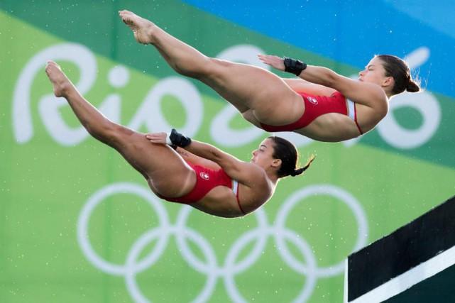 Meaghan Benfeito et Roseline Filion aux Jeux olympiques... (Frank Gunn, archives La Presse canadienne)