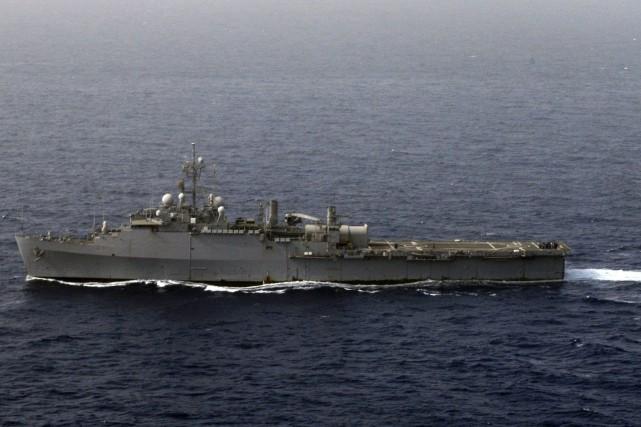 La Marine teste notamment depuis 2014 un laser... (Photo U.S. Navy / REUTERS)