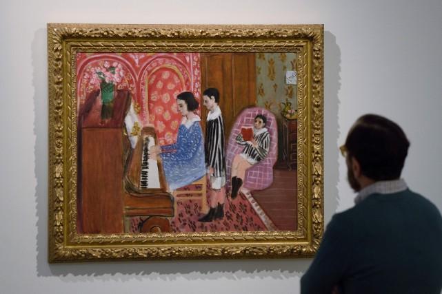 La peinture La leçon de piano d'Henri Matisse... (PHOTO ARCHIVES AFP)
