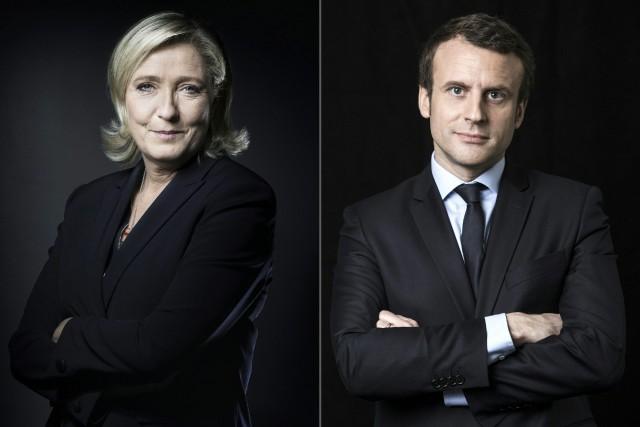Emmanuel Macron et Marine Le Pen sont en... (PHOTO  JOEL SAGET ET Eric FEFERBERG, ARCHIVES AFP)