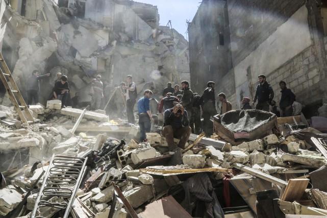 Le bombardement a vraisemblablement été mené par des... (AFP)