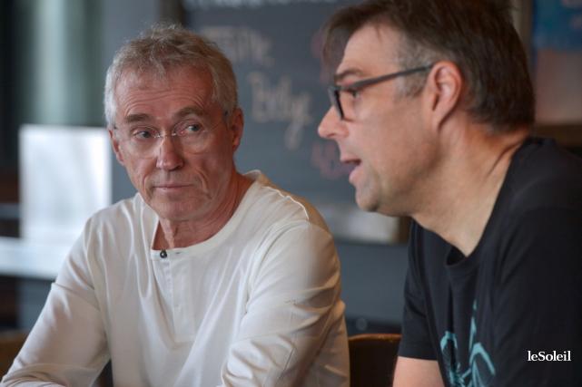 Christian Lemelin (à gauche) et François Trout font... (Le Soleil, Yan Doublet)