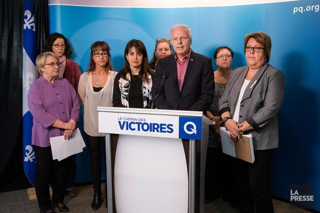 Le chef de l'opposition officielle, Jean-François Lisée, et... (PHOTO ROBERT SKINNER, LA PRESSE)