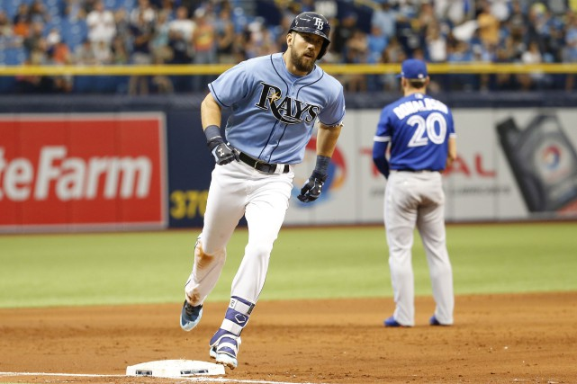 Steven Souza Jr. (20) a claqué un circuit... (Photo Kim Klement, USA TODAY Sports)
