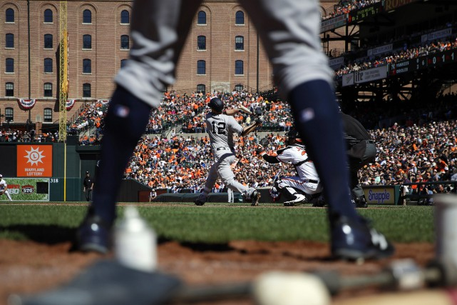 Une victoire qui permet aux Yankees d'éviter de... (Photo Patrick Semansky, AP)