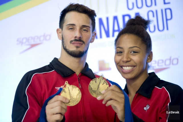 François Imbeau-Dulac et Jennifer Abel ont gagné l'épreuve... (Martin Roy, Le Droit)