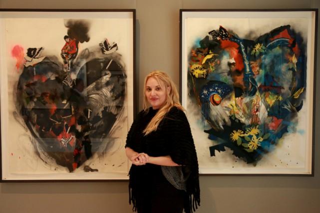 Eugénie Cliche expose Broderies et gribouillis.... (Catherine Trudeau)