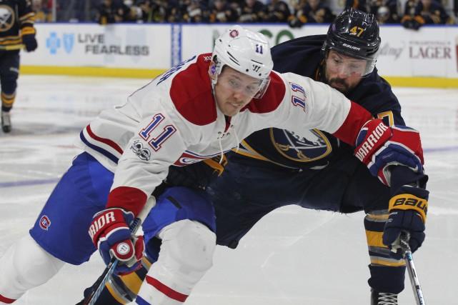 Pour Brendan Gallagher, la performance du Canadien contre... (AP, Jeffery T. Barnes)