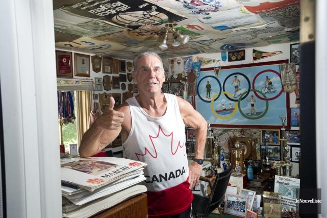 Marcel Jobin détient les records canadiens au 1500... (Sylvain Mayer, Le Nouvelliste)