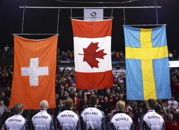 L'équipe de Brad Gushue a permis au Canada... (La Presse Canadienne, Jonathan Hayward)