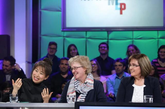 L'écrivaine KimThúy a incité les intervenantes BrigitteHarrisson et... (Photo fournie par ICI Radio-Canada Télé)