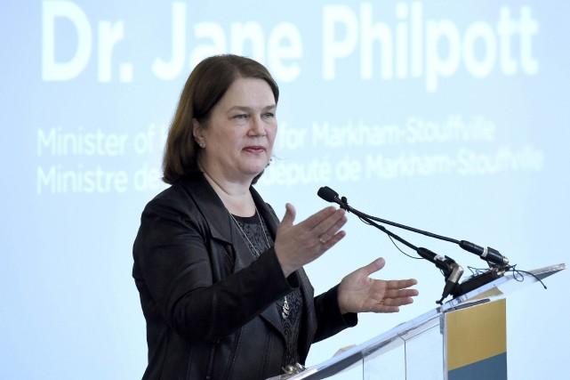 La ministre fédérale de la Santé Jane Philpott... (La Presse Canadienne, Justin Tang)