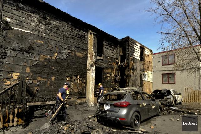 Les dommages ont été importants sur l'avenue Sainte-Anne.... (Martin Roy, Le Droit)