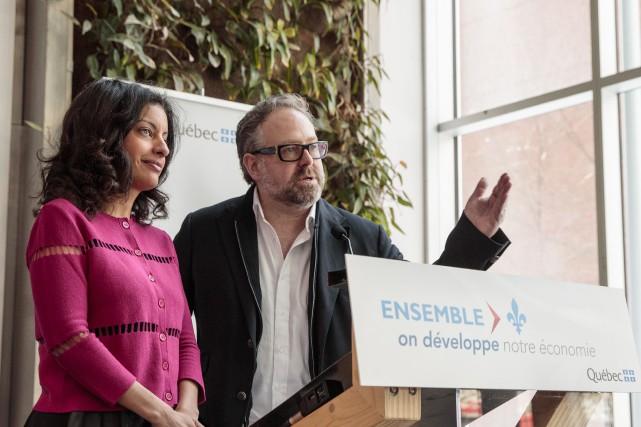 La ministre de l'Économie, Dominique Anglade, et le... (Photo Hugo-Sébastien Aubert, La Presse)