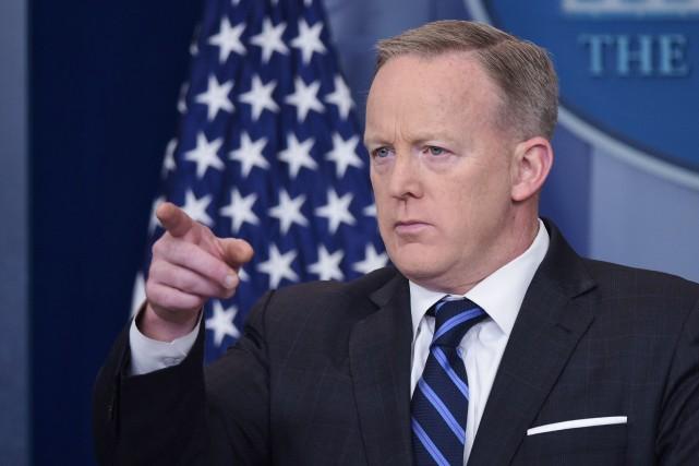 Le porte-parole de la Maison-Blanche, Sean Spicer.... (PHOTO AFP)