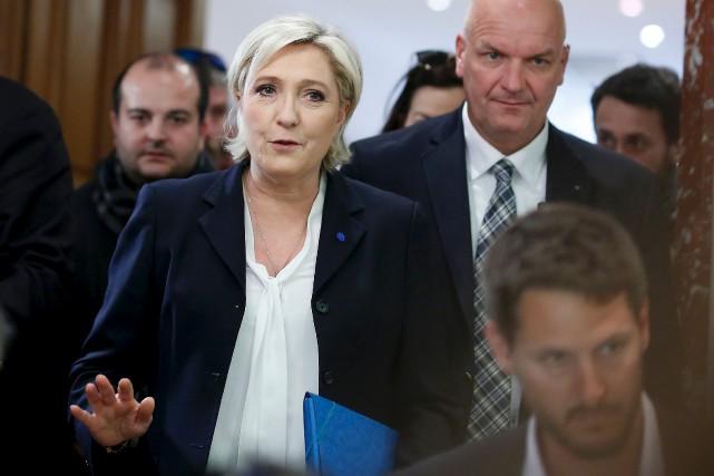 La candidate d'extrême droite Marine Le Pen a... (AFP, Benjamin Cremel)