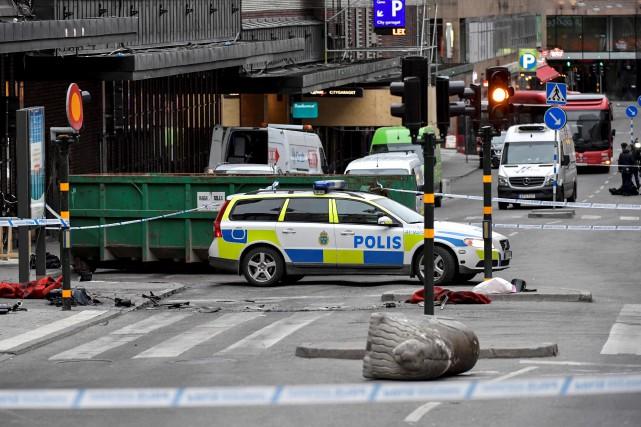 L'attentat de Stockholm a fait quatre morts et... (AFP, Jonas Ekstromer)