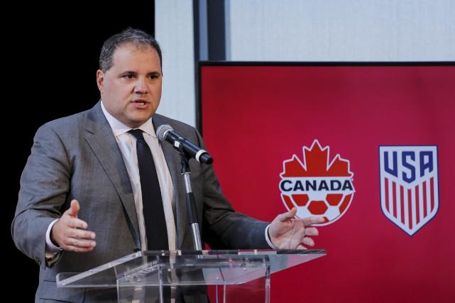 Victor Montagliani, président de la CONCACAF, a confirmé... (AFP, Kena Betancur)