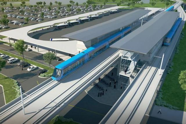 Le Réseau électrique métropolitain (REM) est un projet... (Image fournie parCDPQ Infra)
