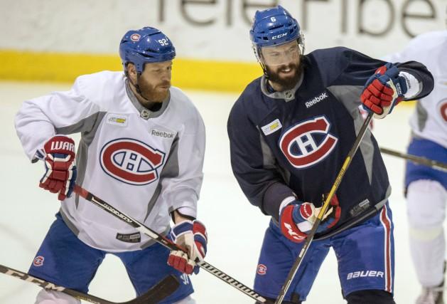 Steve Ott et Shea Weber s'avaient à l'oeil... (La Presse Canadienne, Paul Chiasson)