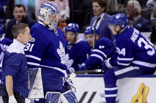 Le gardien des Maple Leafs Frederik Andersen sera... (Photo Frank Gunn, PC)