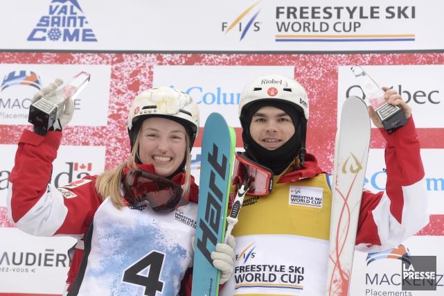 Justine Dufour-Lapointe et Mikaël Kingsbury... (Photo Bernard Brault, archives La Presse)
