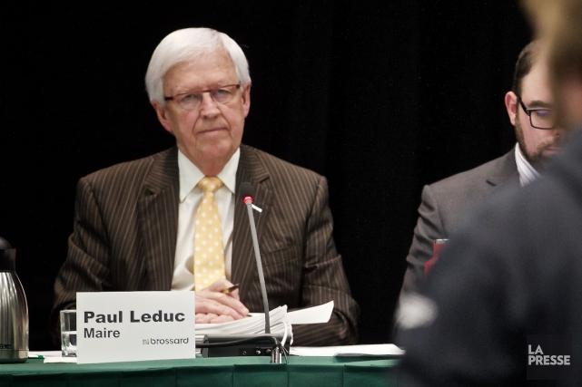 Le maire de Brossard, Paul Leduc.... (Photo André Pichette, archives La Presse)