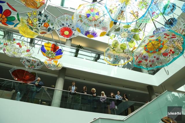 L'Atrium du Carrefour de la coopération de Granby expose une toute nouvelle... (Janick Marois, La Voix de l'Est)