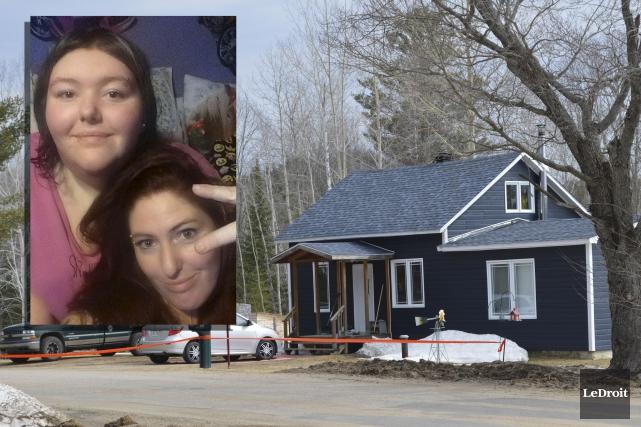 Priscilla Lee Bond et sa fille Gabrielle Lepage... (Le Droit et Facebook (mortaise))