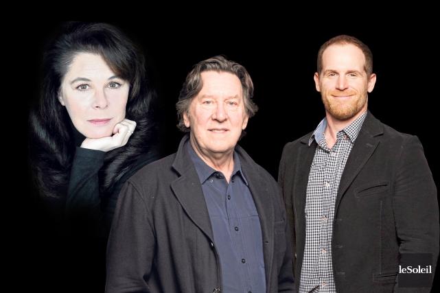 L'actrice acadienne Denise Bouchard, Gilles Renaud et Alexandre... (Infographie Le Soleil)