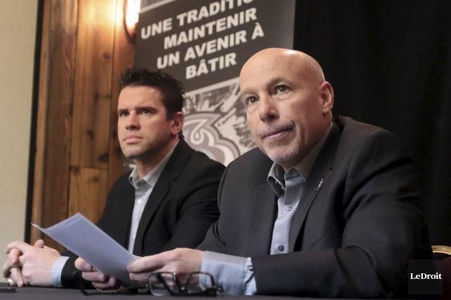L'entraîneur-chef Éric Landry et le directeur général Marcel... (Étienne Ranger, Le Droit)