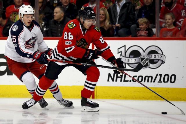 Patrick Kane et les Blackhawks de Chicago sont... (Associated Press)