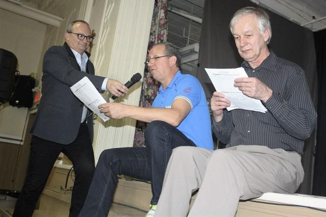 L'animateur Denis Brisebois, associé chez Lemay stratégies, s'est... (La Tribune, Jean-François Gagnon)