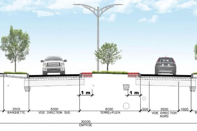 Le boulevard René-Lévesque comportera une voie de circulation...