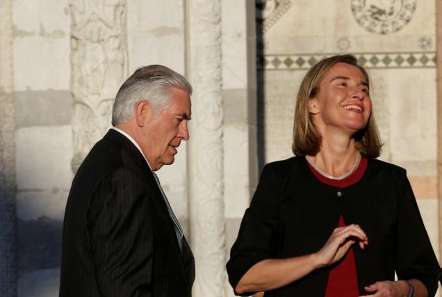 La cheffe de la diplomatie de l'Union européenne,... (REUTERS)