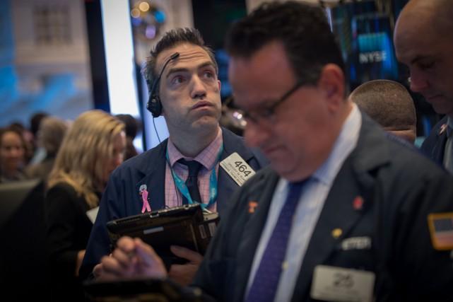 Depuis le début de la semaine, Wall Street... (Photo AFP)